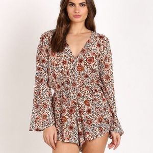 Amuse Society Floral Romper